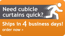 Need cubicle curtains quick? Ships in 4business days!